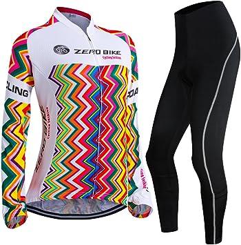 ELEAR/® Herren Langarm Farradkleidung Fahrrad Anzug Radtrikot mit Hose Lange /Ärmeln Anzug Radbekleidung