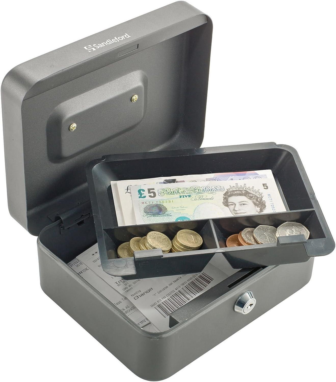 Sandleford - Caja de dinero en efectivo (250 mm, 90 x 250 x 180 mm), color negro: Amazon.es: Bricolaje y herramientas