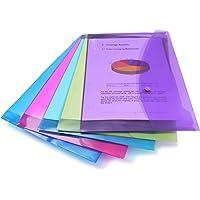 Rapesco Documentos - Carpeta portafolios A4+ horizontal, en varios colores traslúcidos, 5 unidades