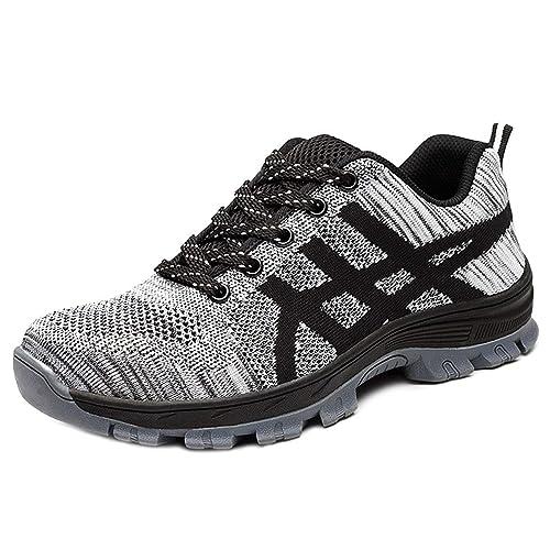 tout neuf 3a1fa 16759 CHNHIRA Chaussures de Sécurité Homme Embout Acier Protection Confortable  Léger Respirante Unisexes Chaussures de Travail