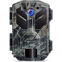 APEMAN Caméra de Chasse 20 MP 1080P avec Vision Nocturne Infrarouge jusqu'à 20 m étanche IP66 aux Projections d'Eau pour la Nature, Le Jardin, la Surveillance de sécurité pour la Maison