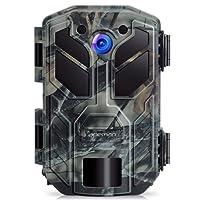 APEMAN Fotocamera da Caccia 20MP 1080P Fototrappola Infrarossi Invisibili Movimento Attivato 0.2s a Scatto Modalita' Notturna 65ft Impermeabile IP66 Camera per la Caccia