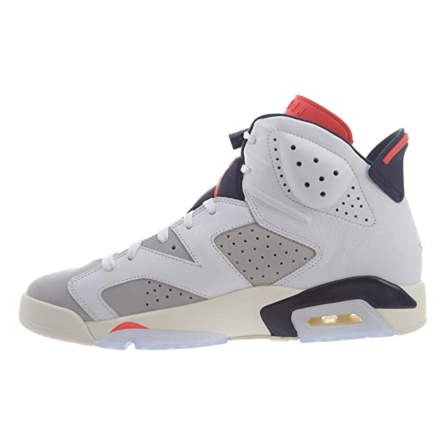 purchase cheap 8c72d f7a6a Amazon.com   Jordan Nike Men s Air 6  Tinker  Retro White Infrared 23-Neutral  Grey-Obsidian 384664-104 (Size  9.5)   Fashion Sneakers