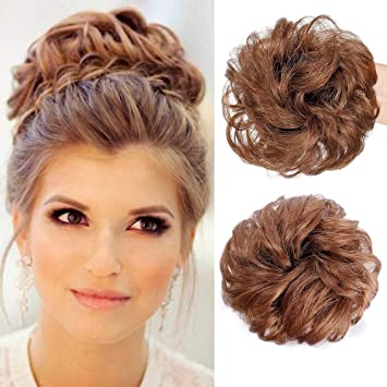 Aisi Beauty 100 Human Hair Bun Extensions Curly Messy Hair Scrunchies Updo Donut
