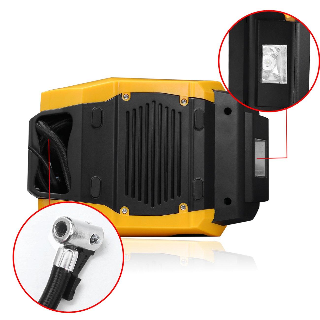 Amazon.es: Favoto Compresor Portátil de Aire Bomba Inflador Automático de Presión de Neumáticos Digital de Emergencia con 12V DC 150 PSI para Coche ...