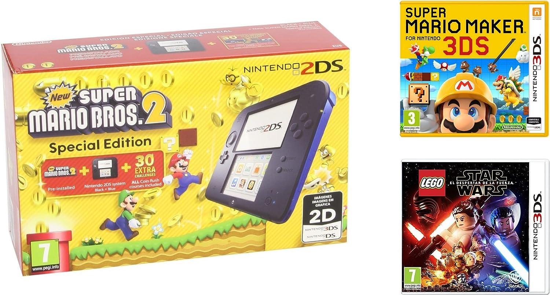 Consola Nintendo 2DS Azul + New Super Mario Bros 2 + Super Mario ...