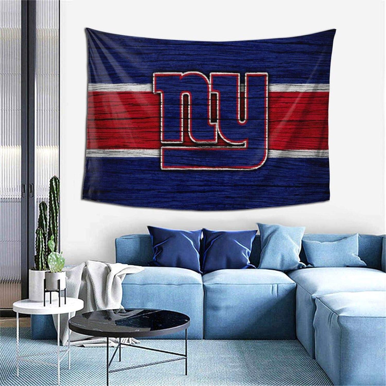 New York Giants Football Logo Tapestry Wall Hanging for Living Room Bedroom Dorm Decor 59x59 inch