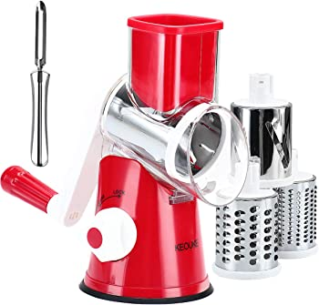 KEOUKE Rotary Cheese Grater Handheld Salad Shooter