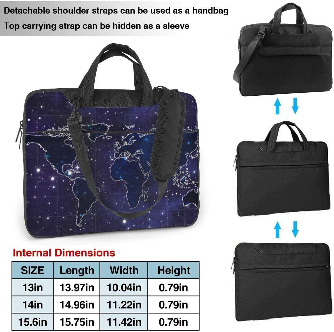 Space Map Briefcase Protective Bag Laptop Shoulder Bag 13 Inch