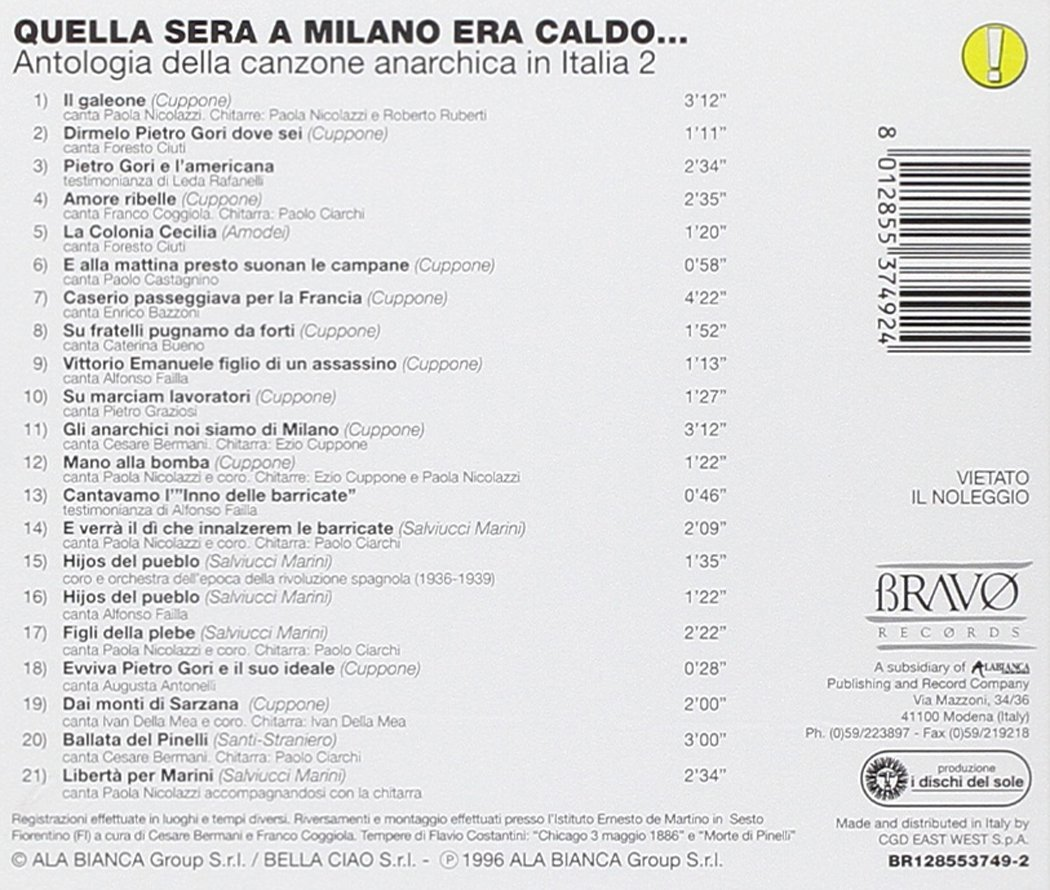 VARIOUS ARTISTS - Quella Sera a Milano Era Caldo/Various - Amazon.com Music