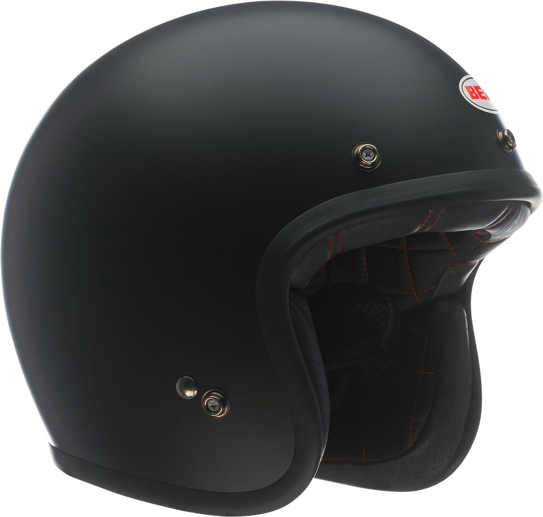 Bell Custom 500 Gloss Black Open Face Motorcycle Helmet W// Free Bag Visor /& Peak