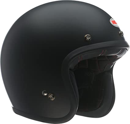 Bell custom 500 open face helmet solid matte black large
