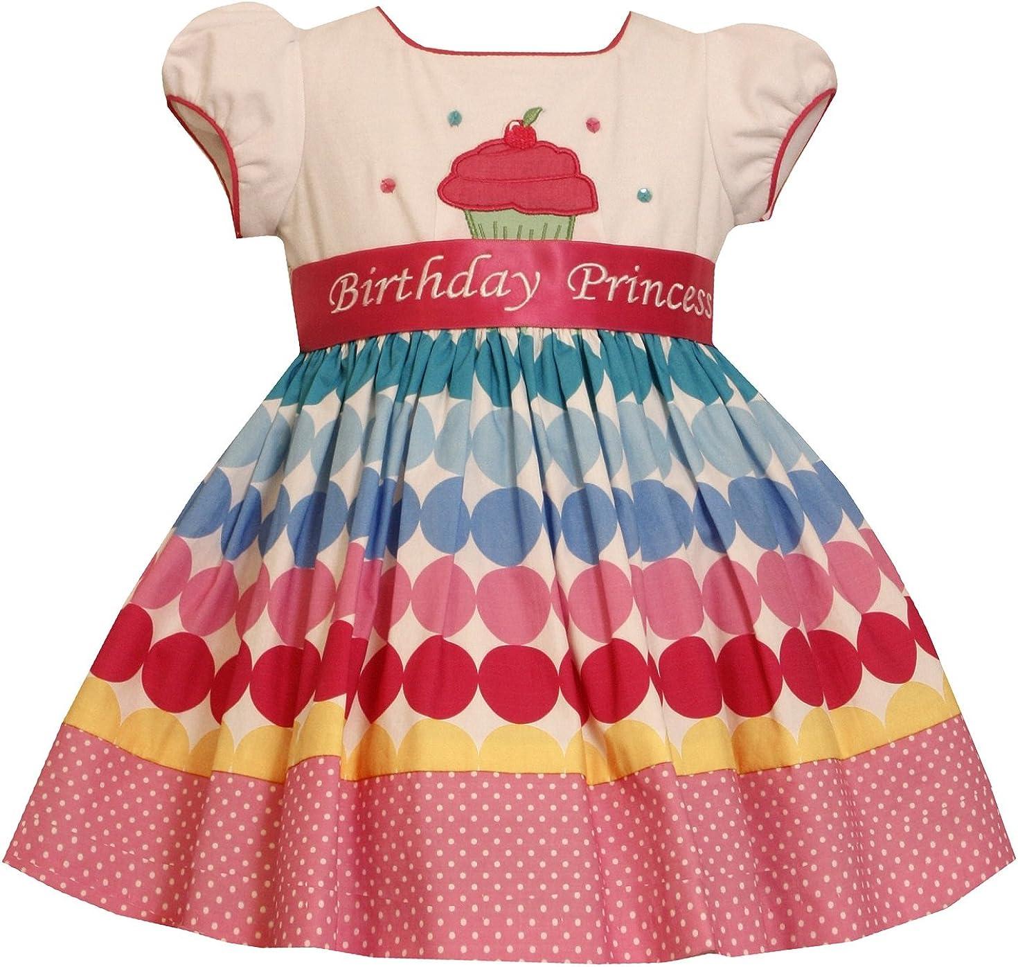 Bonnie Jean Girls Princess Polka Dot Cupcake Birthday Party Dress 12M 4T New