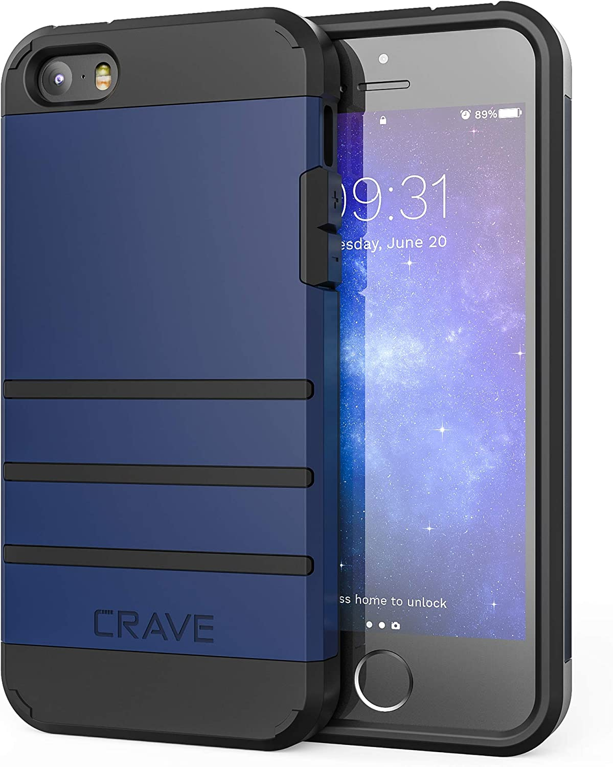 iPhone SE [2016](1st gen) Case, iPhone 5s Case, Crave Strong Guard Protection Series Case for iPhone 5 5s SE - Navy