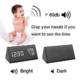 RODH Digital Wood Alarm Clock Wooden Led Light