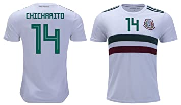 1215dc9e1d3 Chicharito  14 Javier Hernández Mexico Soccer Jersey Men s Home Away Adult World  Cup Short