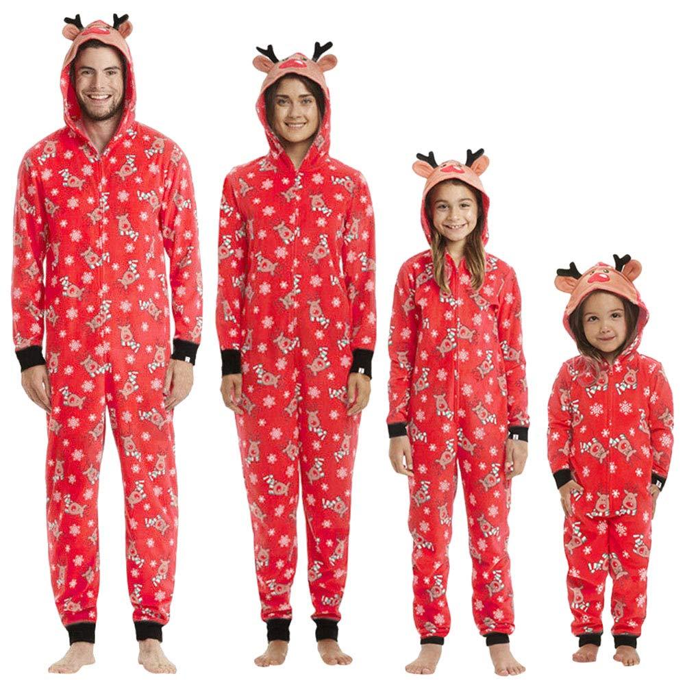 1972e0e73cdc KFSO Elk Antlers Matching Family Pajamas Christmas Sleepwear Cotton ...