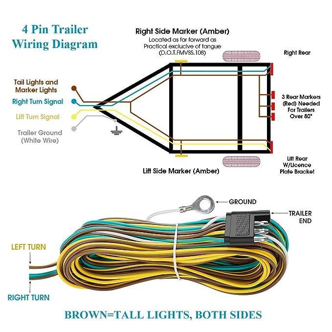 on 4 wire wiring diagram trailer side marker