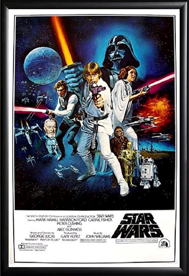 Star Wars Movie Poster Framed (Black)