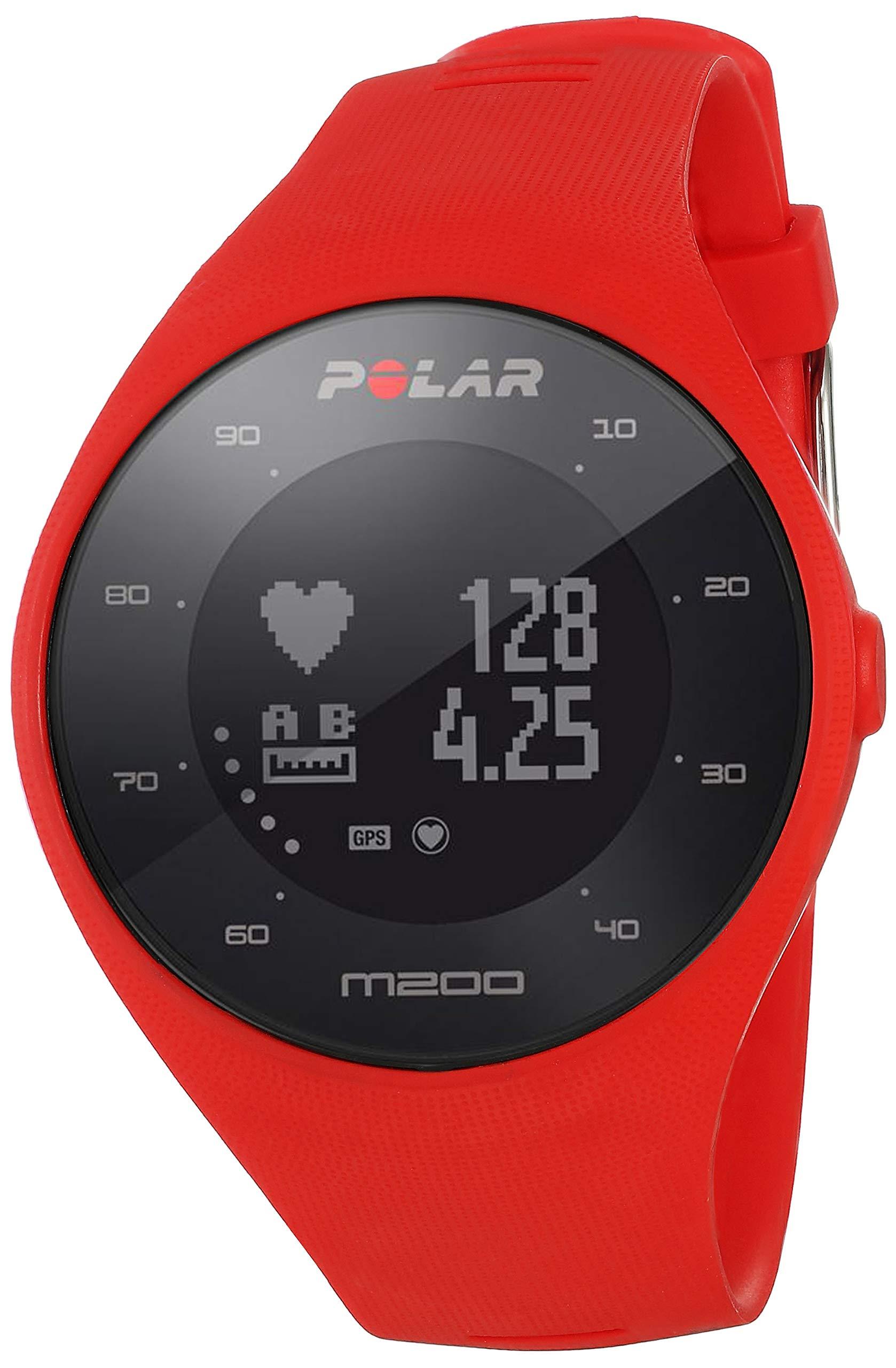 Polar M200 Orologio GPS con Cardiofrequenzimetro Integrato, Monitoraggio Attività Fisica e Sonno, Cinturino Intercambiabile, Connettività a Mobile e Web Service, Rosso product image