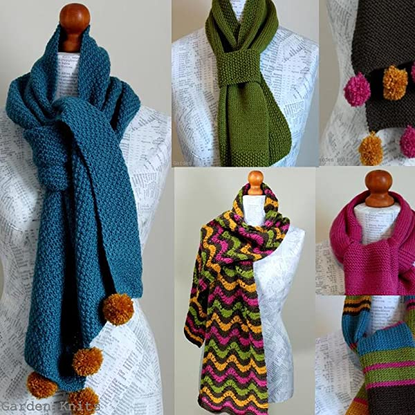 Six Simple Scarves Knitting Pattern Easy Scarves Knitting Course