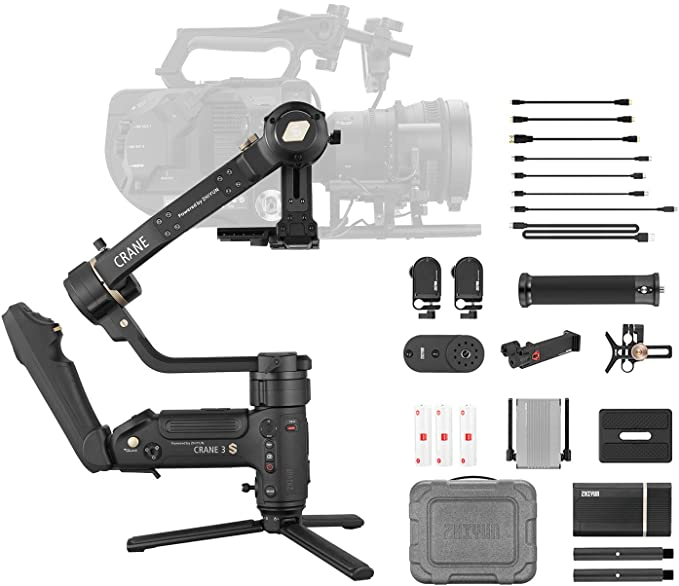 Zhiyun Crane 3S Pro Kit [Official] Handheld 3-Axis Gimbal Stabilizer for DSLR Cameras and Camcorder(PRO Package)