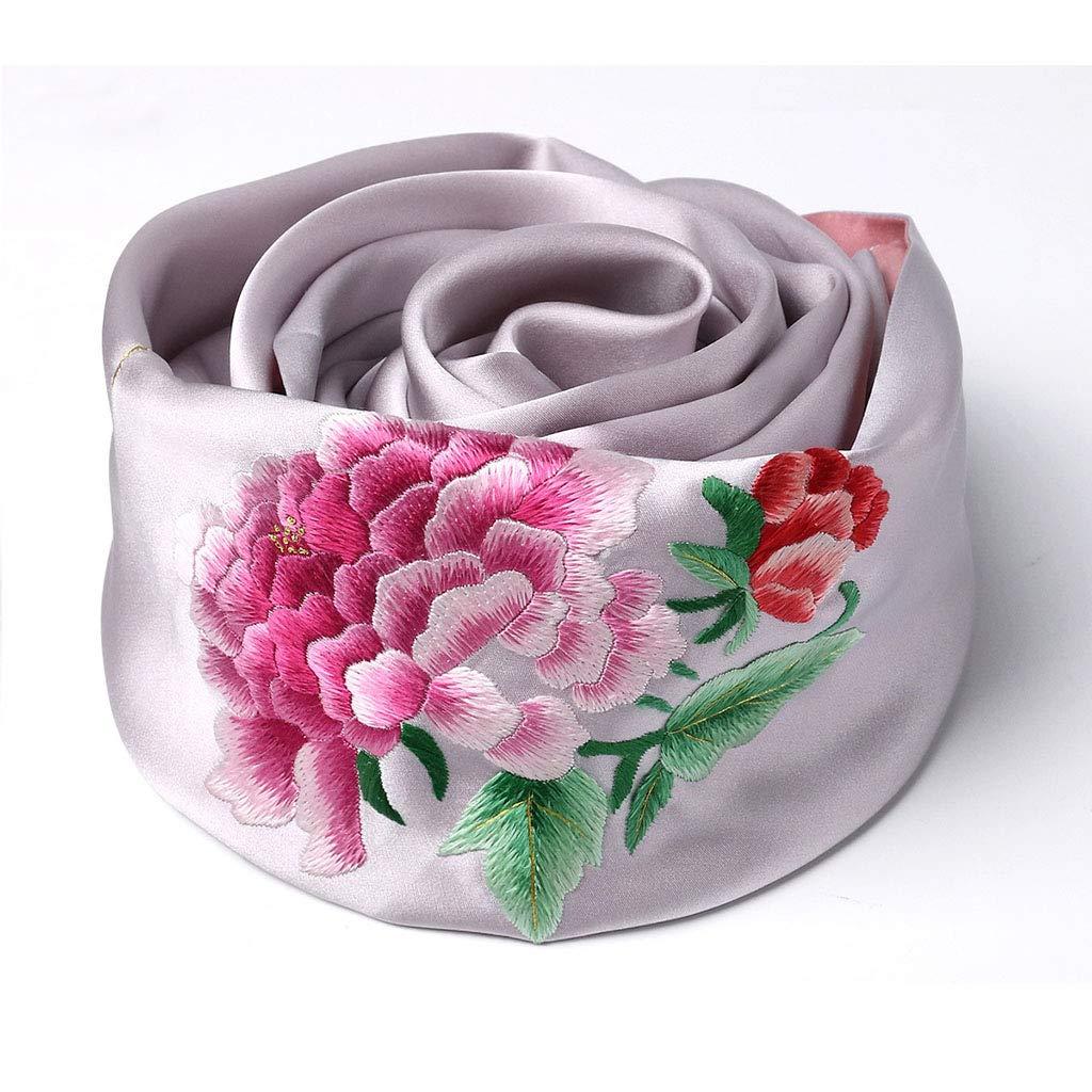N Stoles Scarf Silk Shawl Scarf Spring and Autumn Winter Shawl Scarf Ladies Silk Embroidery Shawl (color   F, Size   155  35cm)
