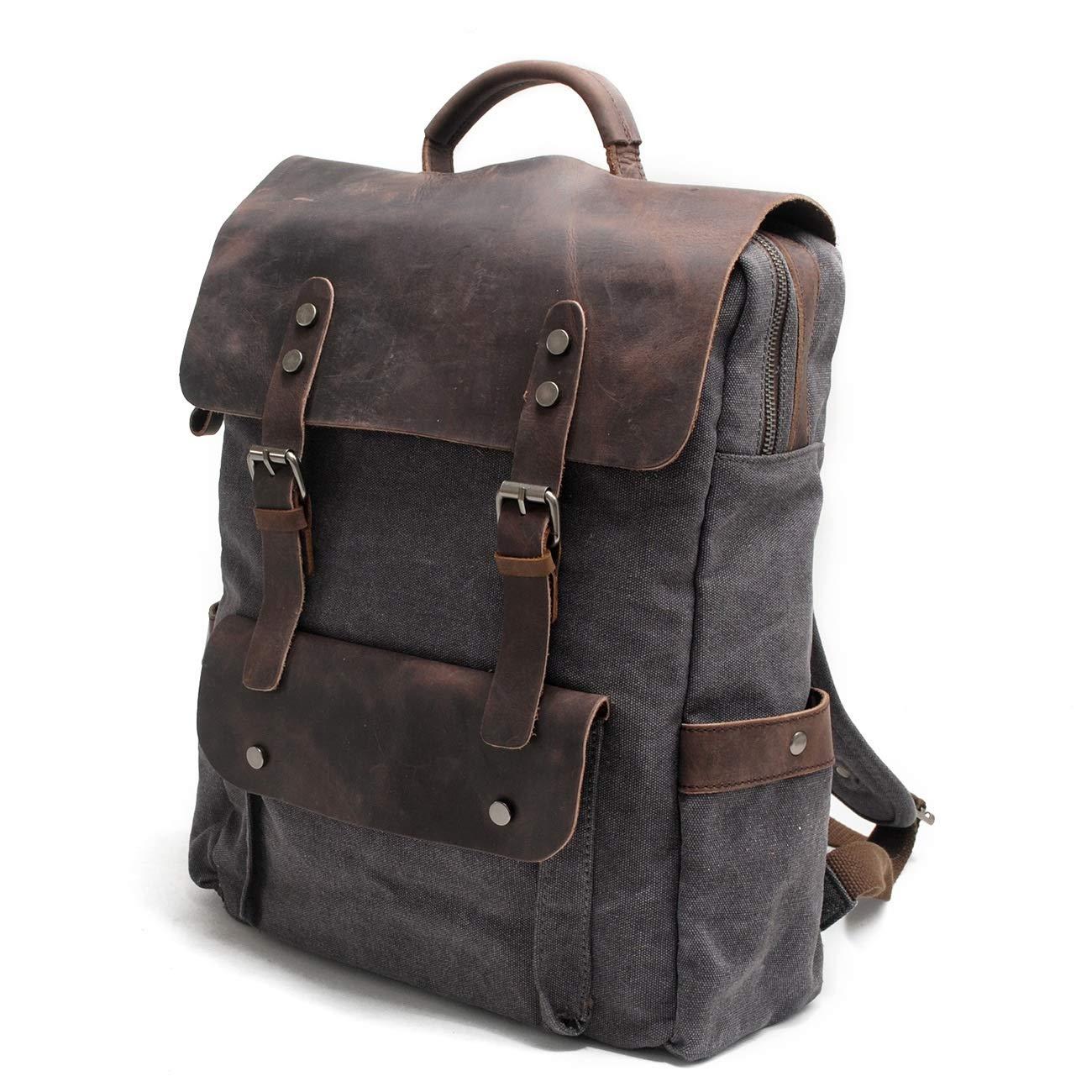 Asdflina Canvas Rucksack Rucksack Rucksack Mode Reiserucksack Schulrucksack Casual Vintage Daypack Lässig Unisex Rucksack Satchel Bookbag (Farbe   Dunkelgrau) B07PZYNG7S Daypacks Kunde zuerst 52c458