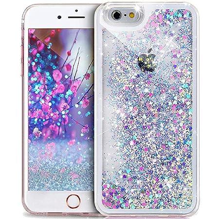 Kompatibel mit iPhone 4S/4 Hülle,iPhone 4S 4 Hülle,Durchsichtige Glitter Glänzend Bling Glitzer Diamond Diamant Fließen Treib