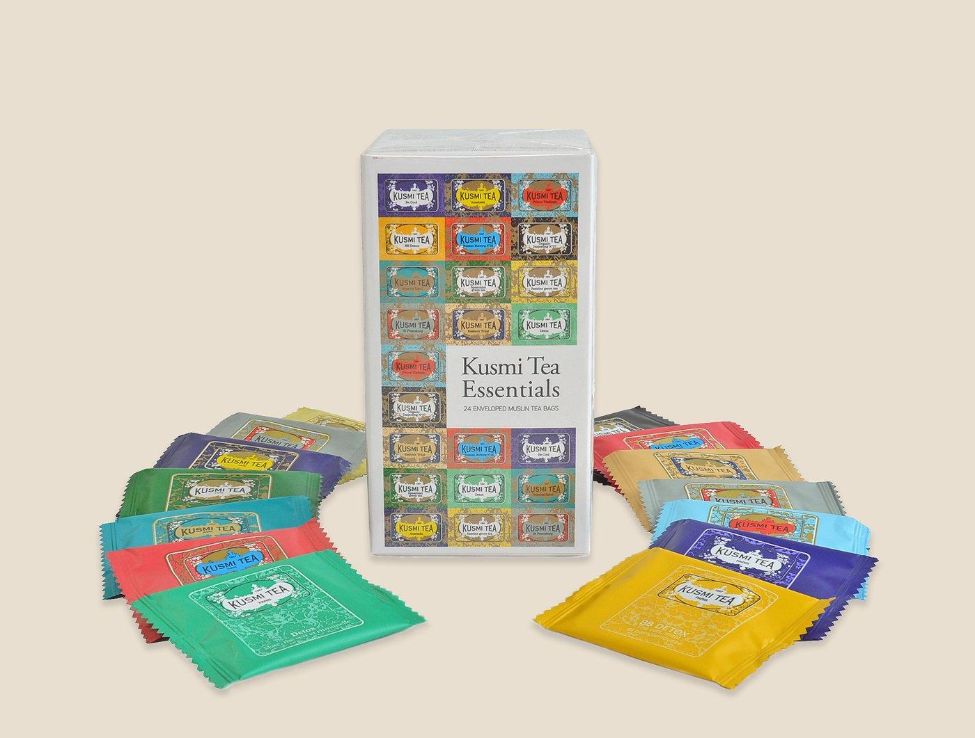 amazoncom kusmi tea essentials 24 tea bags grocery tea sampler grocery u0026 gourmet food