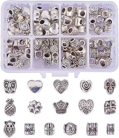 Petit meuble Charms À faire soi-même Crafts Spacer Beads 300pcs 3*5mm Argent