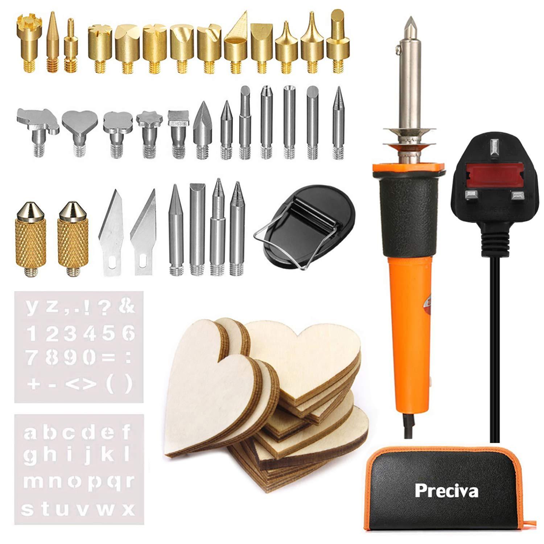 Preciva Wood Burning Tool Kit, 37Pcs Woodburning Pyrography