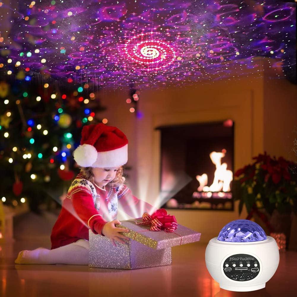 f/ür Kinder Zimmer Dekoration Party Weihnachten Audor LED Sternenlicht Projektor Lampe Starry Wasserwellen mit Bluetooth Musikplayer Timer USB Fernbedienung Sternenhimmel Projektor Lampe Nachtlicht