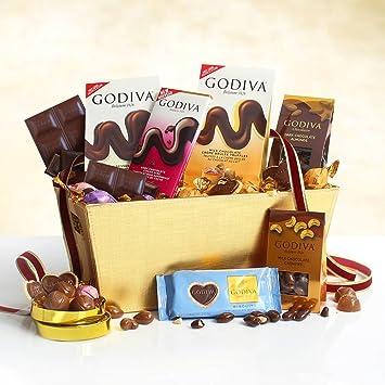 Amazon Com Godiva Godiva Chocolate Experience Gift Basket Home