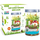 Light-up Terrarium Kit for Kids STEM Educational DIY Project for Children - Create Own Mini Garden in a Jar - Arts and Crafts