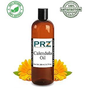 PRZ Calendula Essential Oil (200ML) - Pure Natural Skin Care & Hair Care