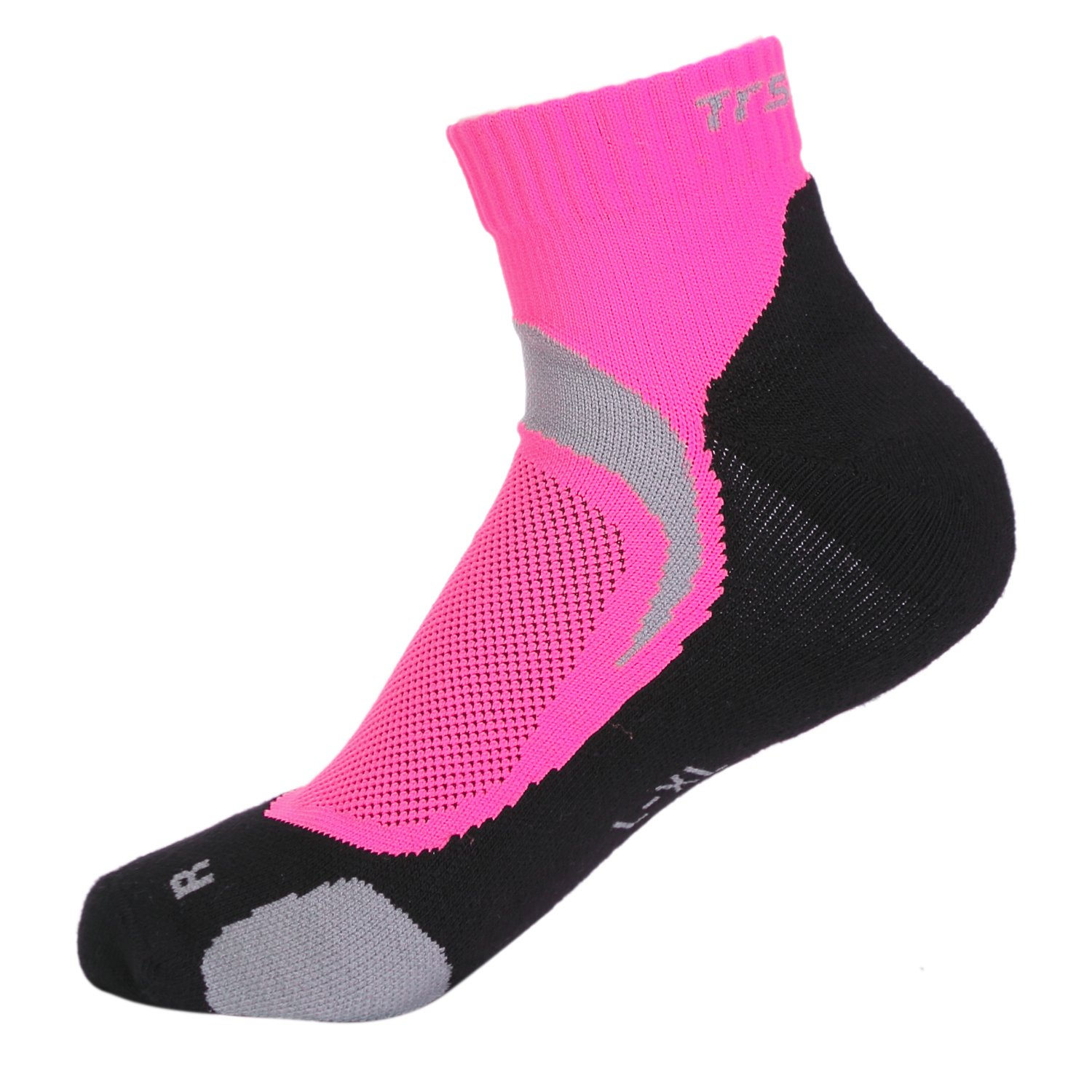 Compression Socks Anklet Low Cut Athletic & Running Socks for Women Pink