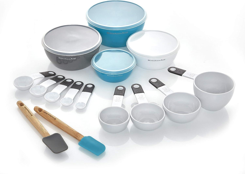 KitchenAid Prep and Measure Kitchen Tool Set, 15-Piece, White
