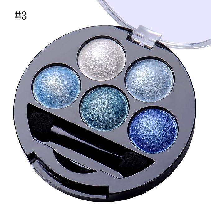 chendongdong - nuevo 5 Mixed Color Glitter Powder Sombra de Ojos Maquillaje metálico sombra de ojos cosméticos: Amazon.es: Belleza