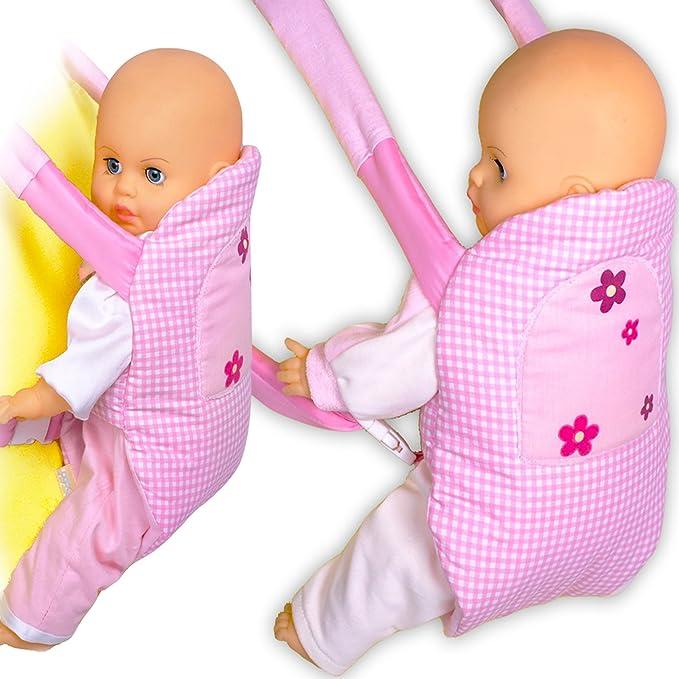 Babypuppen & Zubehör Zapf Creation Baby Born Puppe Kleidung Babytrage Bauchtrage Trage bunt rosa Kleidung & Accessoires