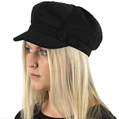 5789015136175 TOSKATOK® Ladies Womens Girls Corduroy Baker Boy Newsboy Peaked Cap   Amazon.co.uk  Clothing