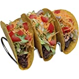 Premium Taco Holders, Restaurant Style Mexican Food Stainless Steel Rack. Stand Holds Hard or Soft Shells. Fiesta Taco Tuesday! (Pack of 2) (Triple)