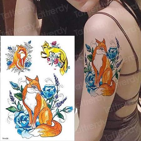 Handaxian 3pcs Tatuaje Mujer Golondrina pájaro Flor Tatuaje ...