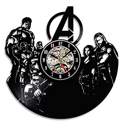 Avengers Vinyl Wall Clock Bedroom Décor Christmas Gift