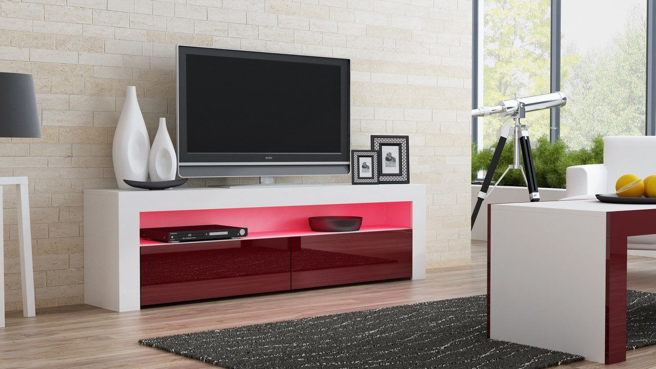 Amazon Com Tv Console Milano Classic White Tv Stand Up To 70  # Meuble Tv Stars