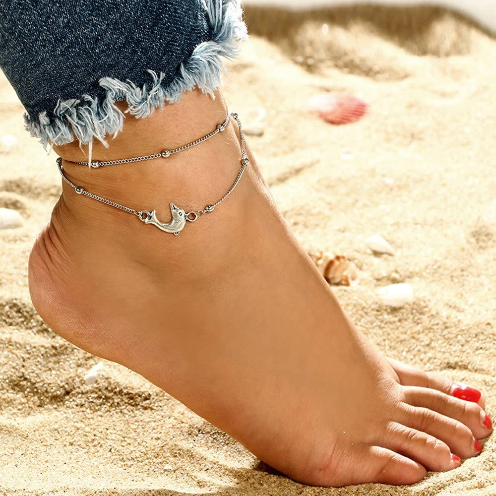 Fashion Womens Thin Chain Anklet Bracelet Barefoot Beach Foot Chain Jewelry FB