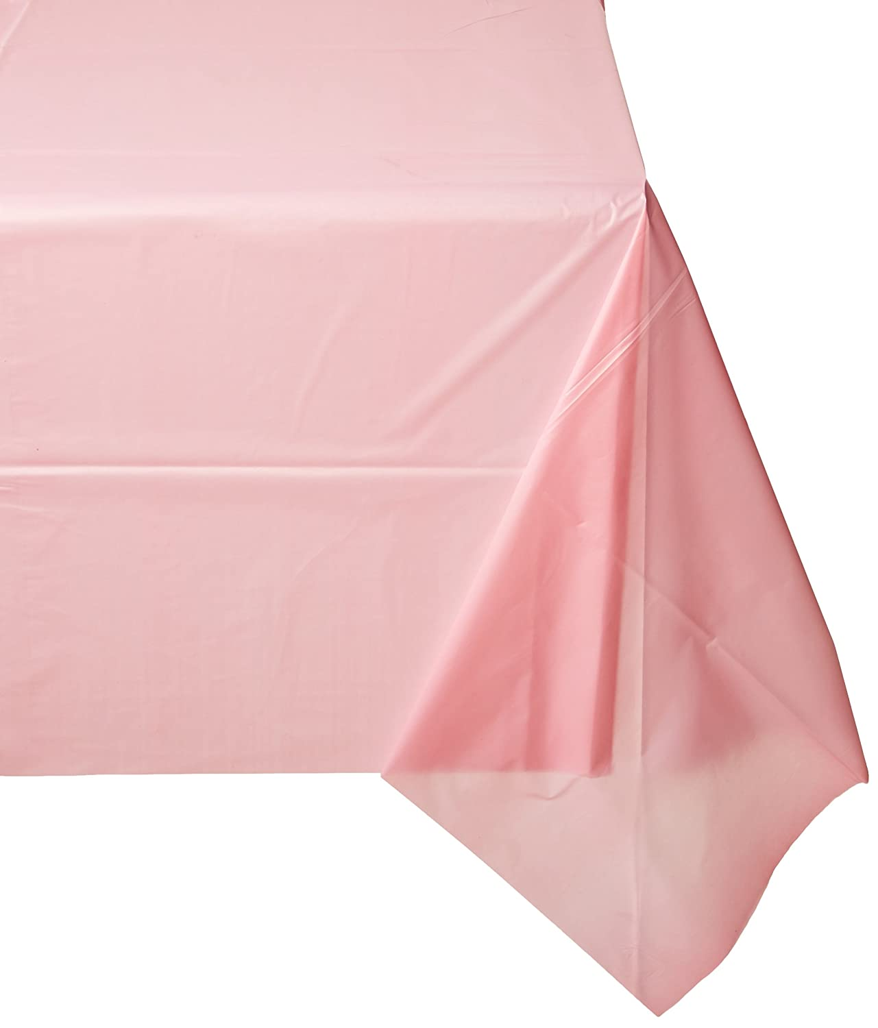 (12-pack) Heavy Duty Plastic Table Covers Tablecloth (Reusable) (Rectangle 54