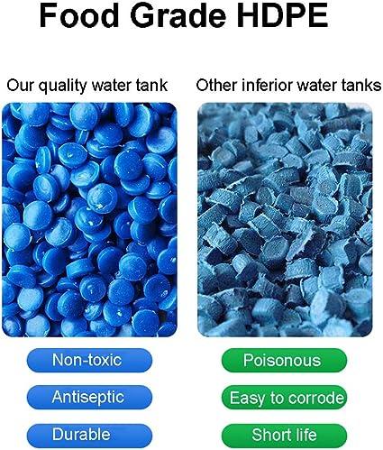 YATONG Bidon Agua Senderismo Depositos de Agua Horizontal de Pl/ástico de 130 L con Tapa y V/álvula Mochilero para Acampar al Aire Libre