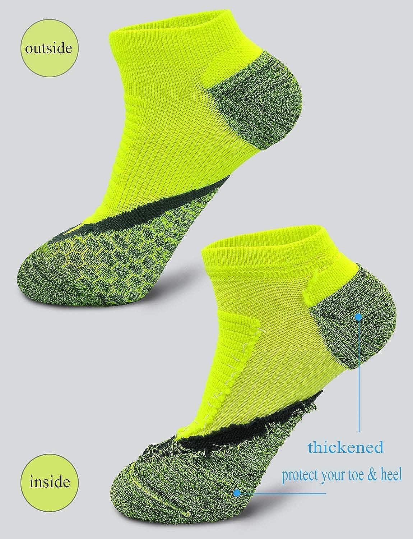 LOFIR Corto Compresi/ón Running Socks para Hombres Arch Support Los calcetines atl/éticos del tobillo al aire libre espesan los calcetines del pie de la compresi/ón para los zapatos de los hombres 39-44