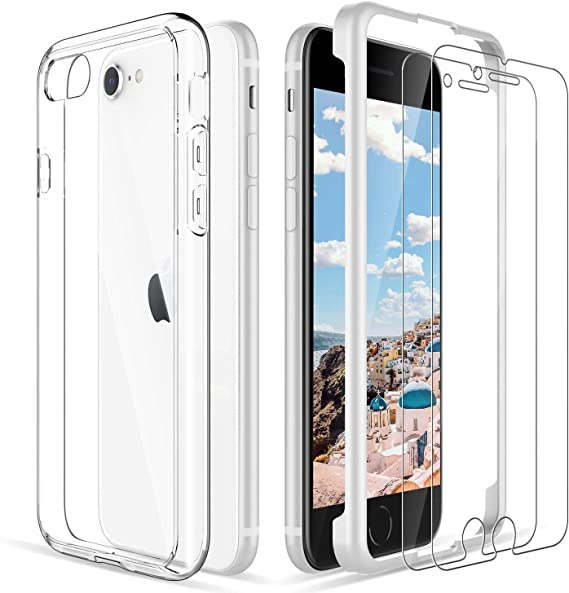 LK Coque pour iPhone 8 et iPhone 7 avec lot de 2 films de ...
